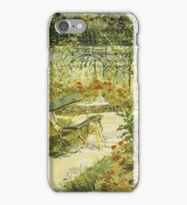 Edouard Manet - The Bench, The Garden At Versailles iPhone Case/Skin