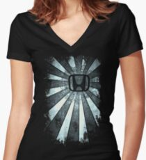 Rays of Honda Women's Fitted V-Neck T-Shirt