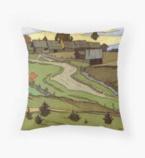 Ivan Biliban -  Village Landscape Throw Pillow