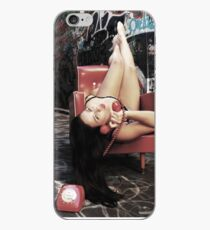 """Retro Pin Up, """"Wish you were here..."""" iPhone Case"""