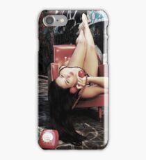 "Retro Pin Up, ""Wish you were here..."" iPhone Case/Skin"