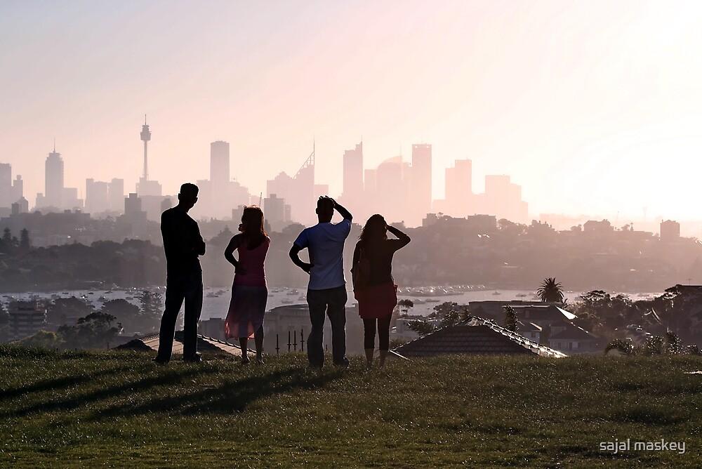 sunset view of sydney city  by sajal maskey