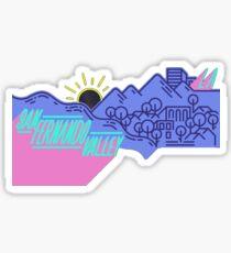 san fernando valley Sticker