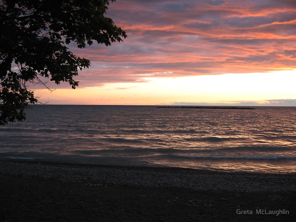Sunset on Lake Huron II by Greta  McLaughlin