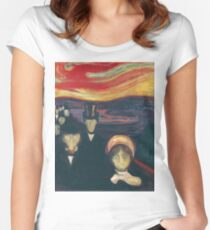 Edvard Munch - Anxiety Women's Fitted Scoop T-Shirt