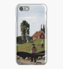 Edvard Munch - Bay With Boat And House iPhone Case/Skin