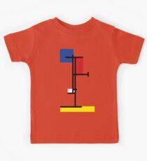 Mondrian Minimalist De Stijl Modern Art III Kids Tee