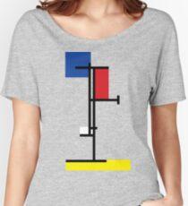 Mondrian Minimalist De Stijl Modern Art III Women's Relaxed Fit T-Shirt