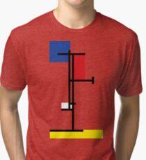 Mondrian Minimalist De Stijl Modern Art III Tri-blend T-Shirt
