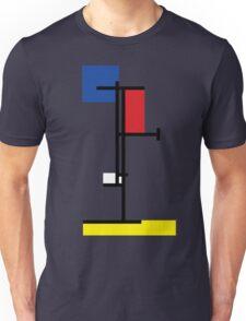 Mondrian Minimalist De Stijl Modern Art III Unisex T-Shirt