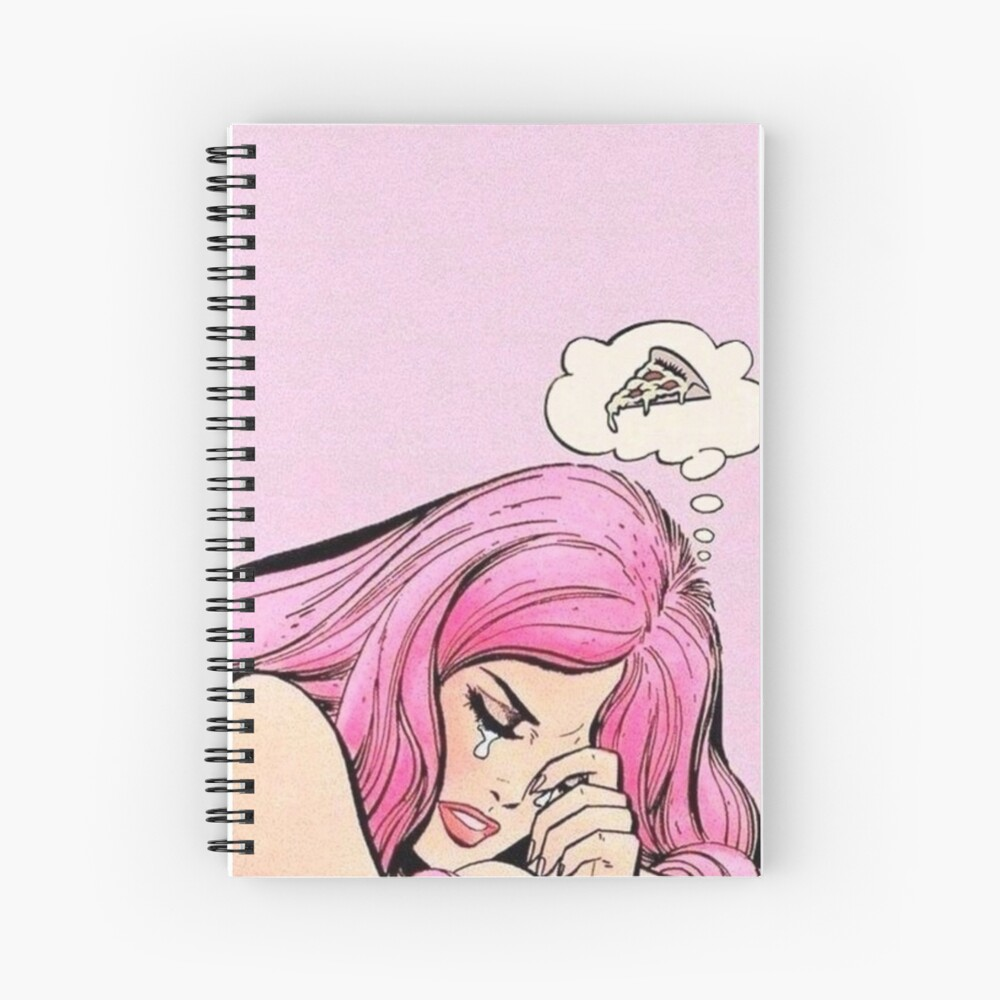 Thinkin' About Pizza Aesthetic  Spiral Notebook