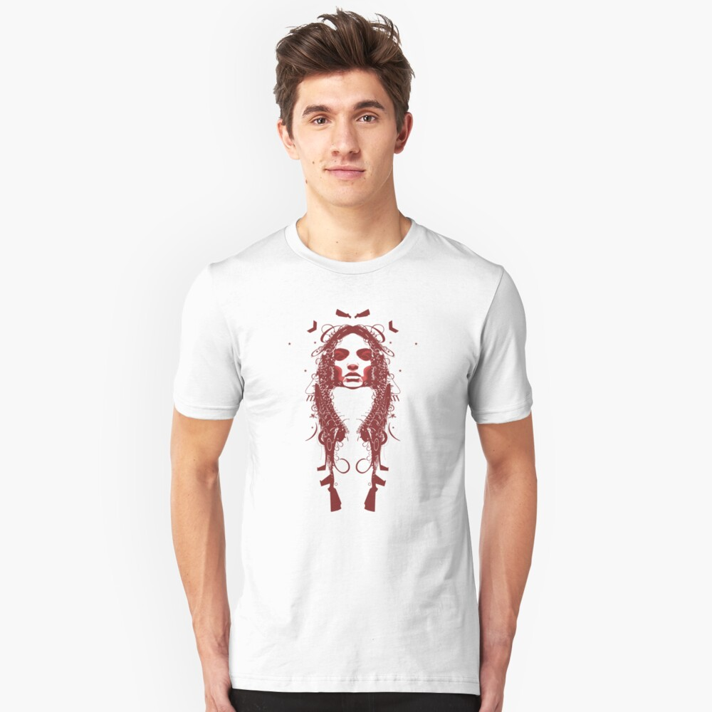 Face (red) Tee Unisex T-Shirt Front