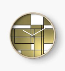 Mondrian cool fashion Clock