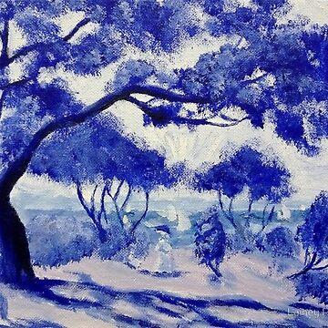 Blue Porcelain (Noirmoutier after Renoir) by L-Anais
