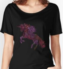 Psychedelic Unicorn Women's Relaxed Fit T-Shirt
