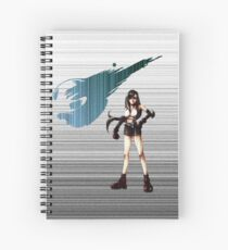 Tifa FF7 matrix Spiral Notebook