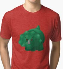 Little Green Dinosaur Tri-blend T-Shirt