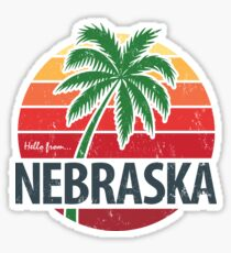 Hello From Nebraska! Sticker