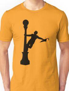 Singing in the Rain Silhouette  Unisex T-Shirt