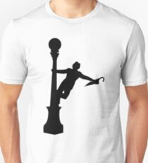 Singing in the Rain Silhouette  Unisex T-Shirt