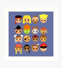 Street Fighter 2 Turbo Mini Art Print