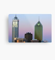 Perth City Towers At Sunset  Metal Print
