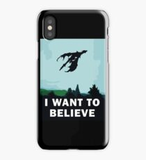 I Want To Believe... In Dragons  iPhone Case/Skin
