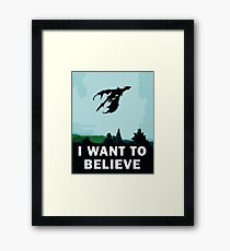 I Want To Believe... In Dragons  Framed Print