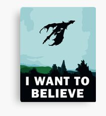 I Want To Believe... In Dragons  Canvas Print