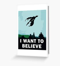 I Want To Believe... In Dragons  Greeting Card