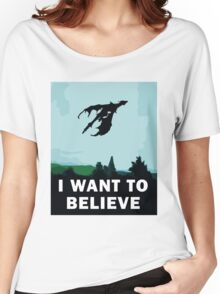 I Want To Believe... In Dragons  Women's Relaxed Fit T-Shirt
