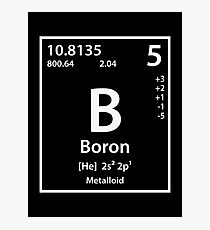 Boron Element Photographic Print