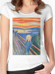 Edvard Munch - The Scream Pastel Women's Fitted Scoop T-Shirt