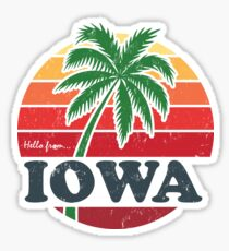 Hello from Iowa Sticker