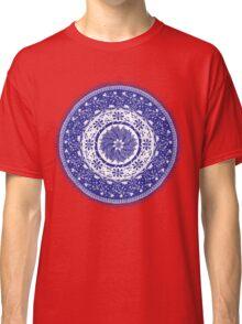 Blue and White Mandala  Classic T-Shirt