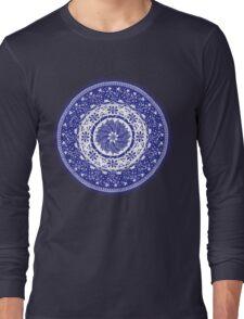 Blue and White Mandala  T-Shirt