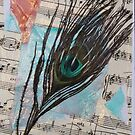 Sheet Music & Peacock Plumes by CaileyB