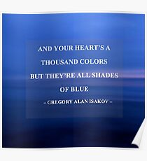 All Shades Of Blue - Gregory Alan Isakov Lyrics  Poster