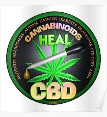CBD Cannabinoids in Hemp oil Cures  learn truth about use of hemp oil to cure illness and pains. Poster