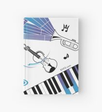 Music notes Hardcover Journal