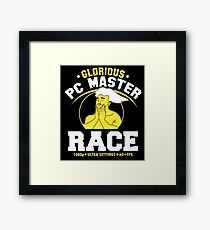 glorious pc gaming master race Framed Print