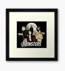 Monsters Assemble Framed Print