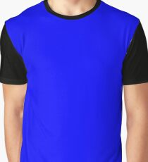 Solid Blue Color Graphic T-Shirt