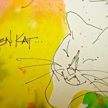 Zen Kat Kamala by dkatiepowellart