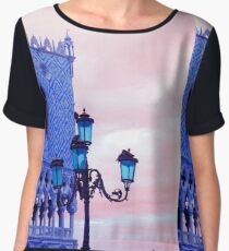 Venice lamps and architecture Women's Chiffon Top