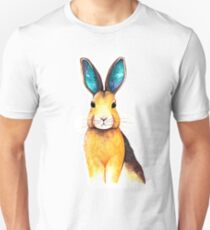 Galaxy Eared Hare Watercolour Unisex T-Shirt