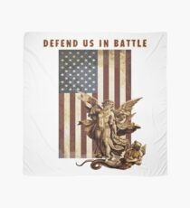 St Michael Defend US in Battle Scarf