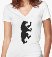 House Mormont Women's Fitted V-Neck T-Shirt