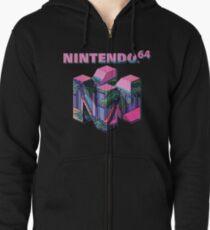 Nintendo 64 Aesthetic Zipped Hoodie