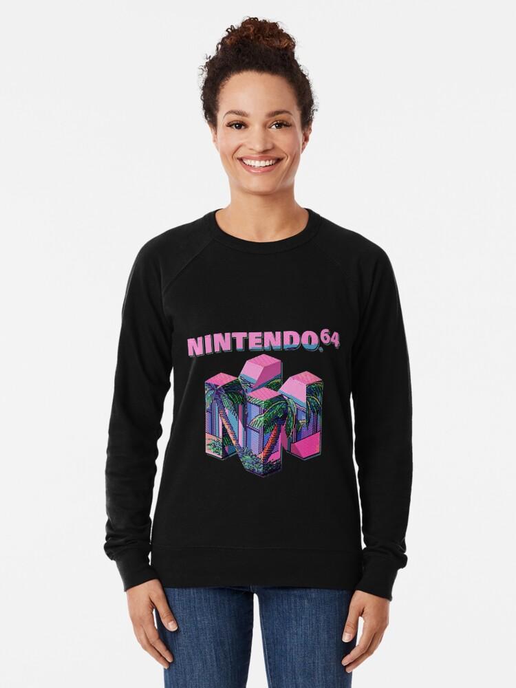 Alternate view of Nintendo 64 Aesthetic Lightweight Sweatshirt